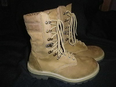 "Army Hiking Tough Leather Boots KIDS SIZES CHEAP BARGAIN  ""NEW"""
