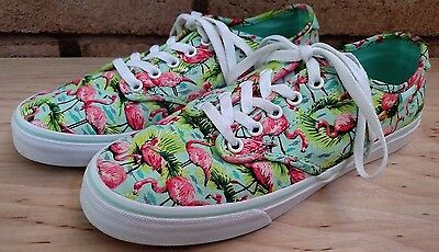 3d50a770010 VANS Women s Camden Deluxe Flamingo Lace-Up Sneakers Canvas Print Size  9.5 40.5