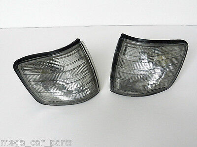 Mercedes S-Class [C126] 1980-1991 Front Indicator Pair Repeater Set - Smoked
