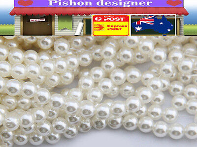 5M 10mm White Pearl Beads String Garland DIY Wedding Party Decoration Trim ABS