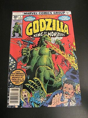 Lot of *9* High-Grade Marvel GODZILLA Comics: #1,2,3,4,5,6,7,8,9 (VF+) *Glossy!*