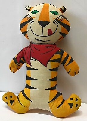 Vintage Kellogg Tony The Tiger Frosted Flakes Stuffed Toy - 1973