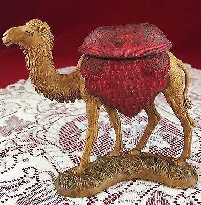 "LANDI ITALY Camel Figurine - with Red Seat and Drapery - 4.25"" tall - unique"