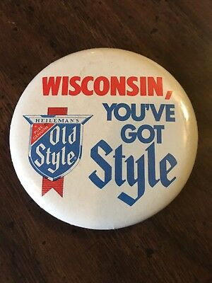 Old Style Beer Pin Heileman Wisconsin You've Got Style