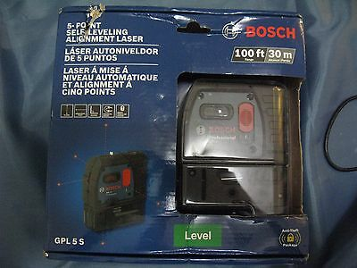 Bosch GPL 5 S 5-Point Self-Leveling Alignment Laser Level NEW SEALED