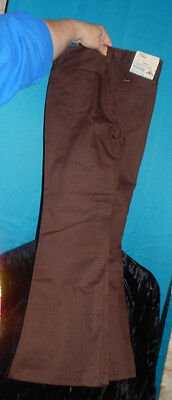 VINTAGE ORIGINAL BROWN WRANGLER BOYS FLARE W26 L27 12 regular