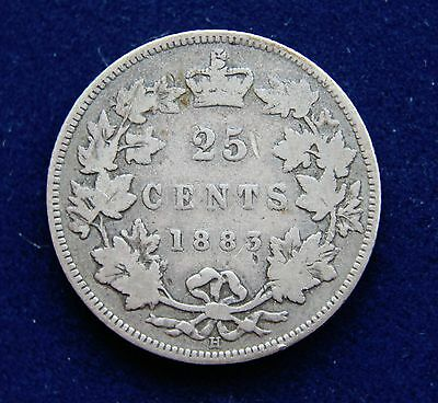 Canada 1883H Victoria Sterling Silver Twenty-Five Cents