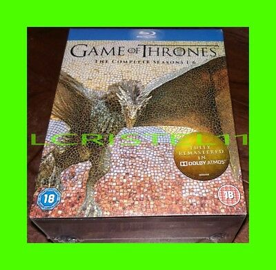 NEW - Game of Thrones: The Complete Seasons 1-6 - Blu-ray Set - 1 2 3 4 5 6