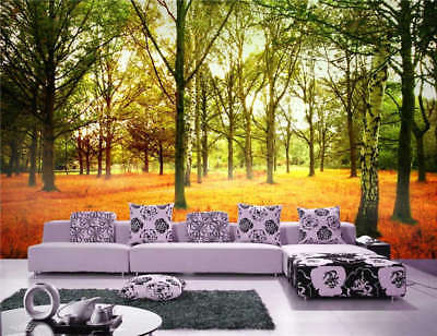 Shinny Forest Autumn  Full Wall Mural Photo Wallpaper Printing 3D Decor Kid Home