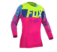NEW FOX MX 2017 PINK Girls Kids Motocross Jersey