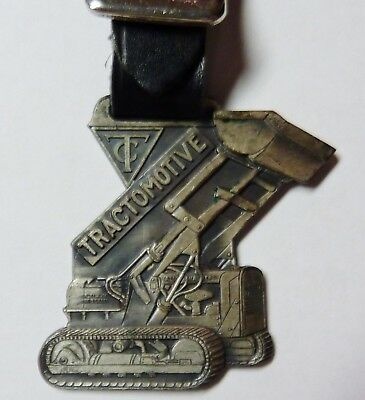 Vintage Allis Chalmers Tractomotive watch fob D.D. Kennedy Inc. Bellwood IL. ILL