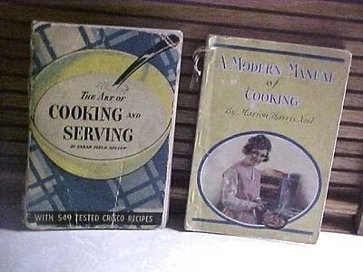 TWO Vintage Crisco Proctor & Gamble Cookbooks 1921 and 1934 CRISCO RECIPES