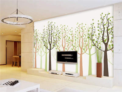 Happy Color Trees Full Wall Mural Photo Wallpaper Printing 3D Decor Kid Home