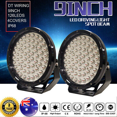 99999w 9inch Spot LED Driving Light spotlights WORK Offroad 4x4wd HID White lamp
