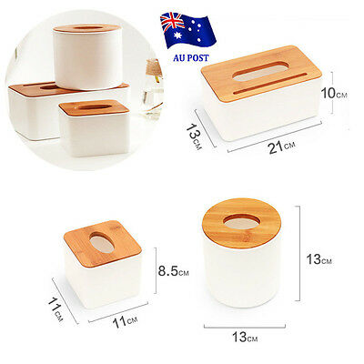 Plastic Home Room Car Hotel Tissue Box Wooden Cover Paper Napkin Holder Case EE