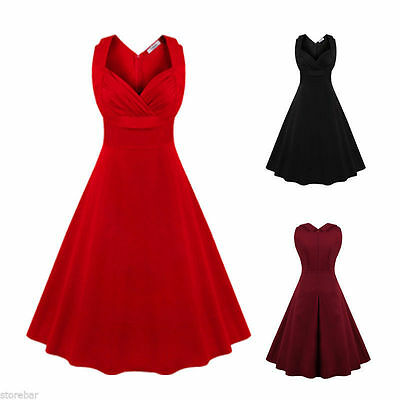 Women's Vintage Retro 50s 60s Formal Evening Swing Pinup Cocktail Party Dresses