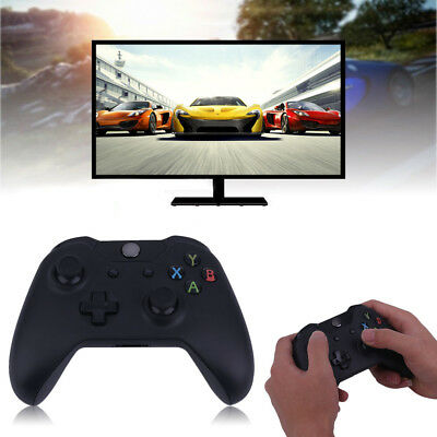 New Black 2.4GHz Wireless Game Controller Joypad for Xbox One Microsoft PC SYD