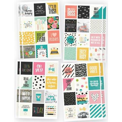 "Carpe Diem - Insta Quote Planner Stickers - 8 Sheets 4""x6""  Total 96 Stickers"