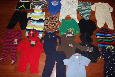 Baby Boy 9 Month Clothing Lot 6-9 6-12 Mo Sleepers Shirts Pants Trunks Superman