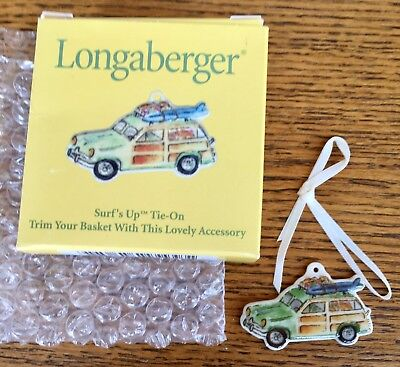 Longaberger 2001 Surf's Up Tie-On NIB