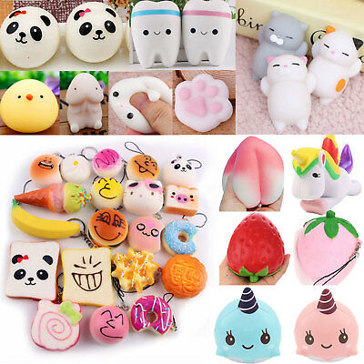 Squishy Slow Rising Cute Cartoon Dolls Squeeze Toy Collectibles Wholesale Strap