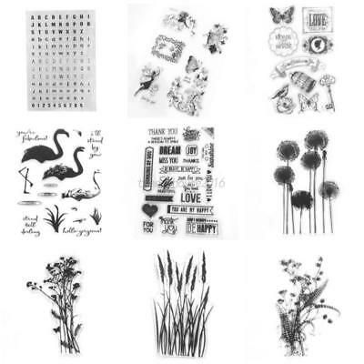 AU Flower Silicone Rubber Clear Stamp Seal Scrapbooking Diary Christmas Card DIY
