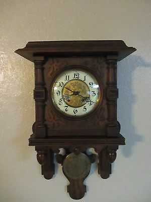 Antique Lorenz Furtwangler Sohne Wall Clock 5830 German