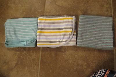 Carter's & Just One You 3 Large Light Weight Knit Unisex Baby Blankets Euc!