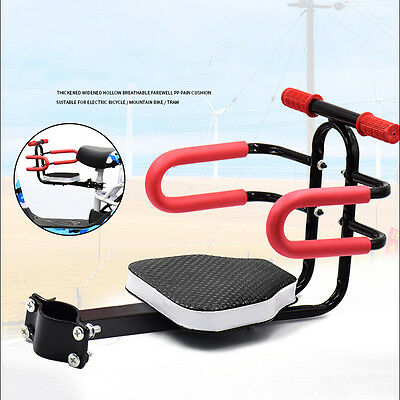 Metal Bicycle Kids Child Front  Safe Baby Seat bike Carrier  with Handrail Gifts