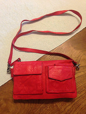 Witchery, Naked Leather, Ladies, Clutch, Handbag, Red