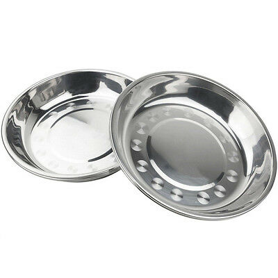 Camp 17.8cm Dia Stainless Steel Tableware Dinner Plate Food Container Picnic