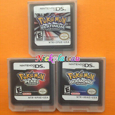 1Pc DS Game Cards Pokemon Diamond,Pearl,Platinum Gift NDSi NDS Lite Newly