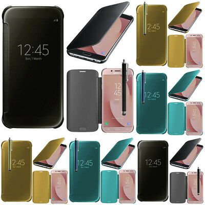 Housse Coque Etui Clear View Smart Cover Samsung Galaxy J7 (2017) SM-J730F/DS