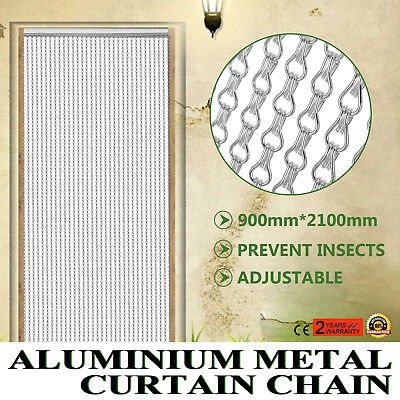Aluminium Fly Pest Door Screen Easily Adjust Silver color Insect Control GOOD