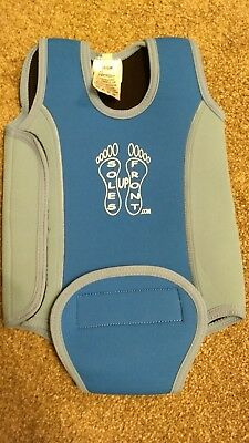 Baby swim vest 6-12 months blue turquoise