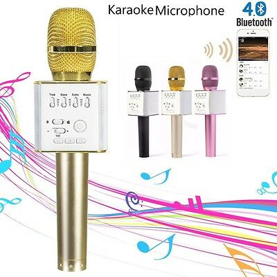 Q9 Handheld KTV Karaoke Mic Wireless Microphone Bluetooth Speaker Player Outdoor