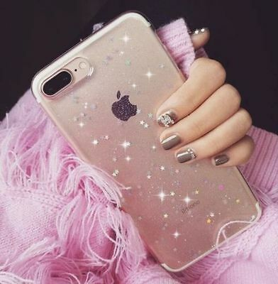 For Samsung Galaxy Phones Glitter Bling Shockproof Clear Soft Luxury Case Cover