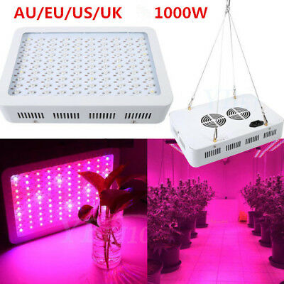 1000W LED Grow Light Full Spectrum  Lights Lamp for Indoor Plant Greenhouse JS