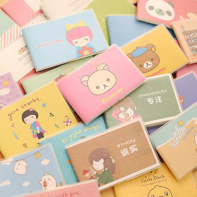 Student Mini Cute Journal Diary Notebook Paper Vintage Retro Notepad Book Popula