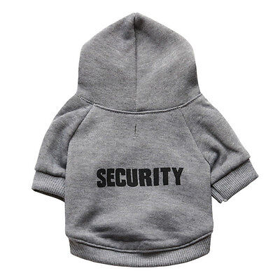 1x Pet Dog Puppy Clothes Printed Security Sweatshirts Hoodies Sweaters Chihuahua