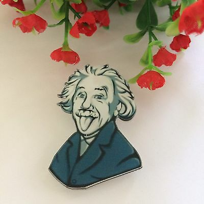Einstein Brooch Pin/Lapel/ BadgeJewelry Rockabilly Vintage Retro