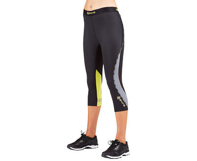 SKINS Women's DNAmic Compression Capri Tights - Black/Limoncello