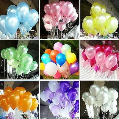 100Pcs Colorful Pearl Latex Balloon Celebration Party Wedding Birthday 10'' j-c