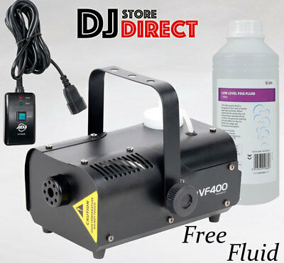 ADJ VF400 400W High Output DJ Fog Smoke Machine Halloween DJ Party + 1 LTR FLUID