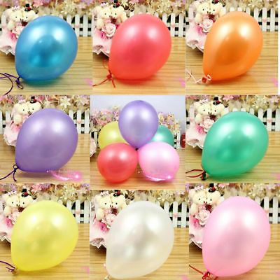 100X 10 inch Colorful Pearl Latex Balloon Celebration Party Wedding Birthday