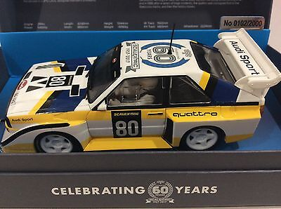 SCALEXTRIC 60th ANNERVERSERY - AUDI QUATTRO S1 E2 - NUMBERED LIMITED EDITION
