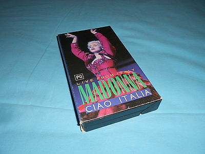 Madonna Ciao Italia Live From Italy Tour VHS Video Cassette Tape Australian 1988