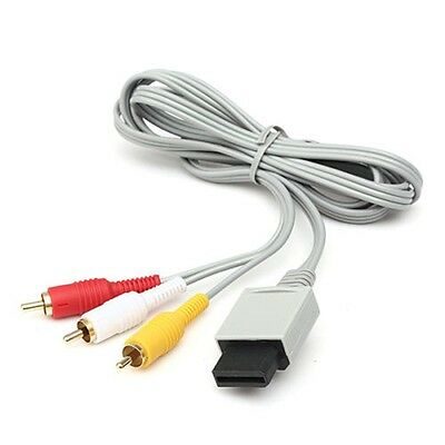 6FT Audio Video AV Composite 3 RCA Cable TV Cord Lead Wire For Nintendo Wii Game