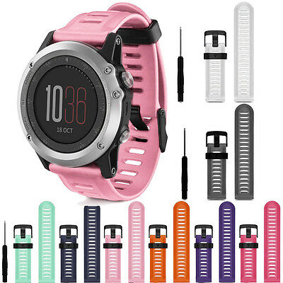 For Garmin Fenix 3 Accessory Band Sport Soft Silicone Replacement Watch Strap