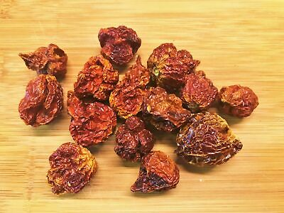 Carolina Reaper Dried Chilli Pods - Worlds Hottest Chilli Pepper - 100g